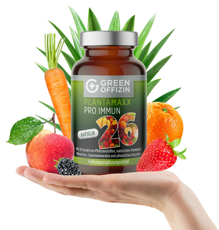 Plantamaxx Pro Immun 26 Kapseln mit Obst und Gemüse